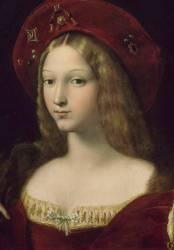 Détail de Jeanne d'Aragon (Raphaël) - Muzeo.com