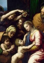 Détail de La Sainte Famille dit La Grande Sainte Famille de François Ier (Raphaël) - Muzeo.com