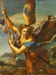 Détail de Saint Michel terrassant le démon dit Le Grand Saint Michel (Raphaël) - Muzeo.com
