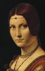 Détail du Portrait d'une dame de la cour de Milan, dit à tort