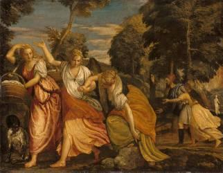 La Famille de Loth fuyant Sodome (Véronèse Paul) - Muzeo.com
