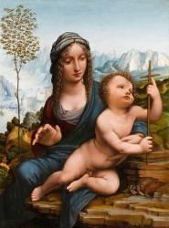 La Vierge au fuseau (De Vinci Léonard) - Muzeo.com