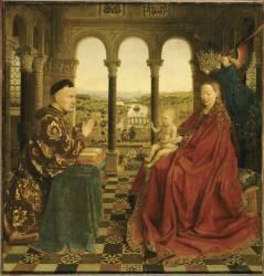La Vierge du chancelier Rolin (Van Eyck Jan) - Muzeo.com