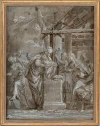 La vierge et l'enfant avec six anges musiciens (Véronèse Paul) - Muzeo.com