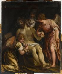 Le christ pleuré par la vierge et deux anges (Véronèse Paul) - Muzeo.com