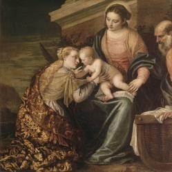 Le mariage mystique de sainte Catherine (Véronèse Paul) - Muzeo.com