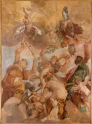 Les Dieux de l'Olympe : Jupiter, Apollon, Diane et Mars (Paolo Veronese) - Muzeo.com
