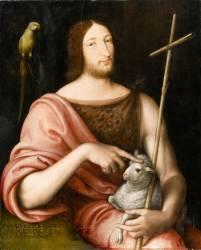 Portait de François Ier en saint Jean-Baptiste (Clouet Jean) - Muzeo.com