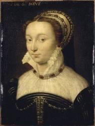 Portrait de Marie de Gaignon, dame de Saint-Bohaire (Clouet François (atelier de)) - Muzeo.com