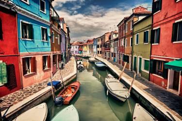 Boats on the canal, Venice (Stulberg Scott) - Muzeo.com