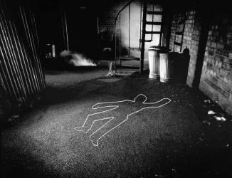 Body Outline, scene of the crime (George Logan) - Muzeo.com