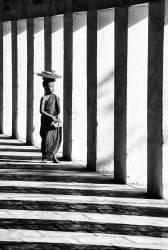 Novice Buddhist monk on the way to lunch, Mandalay, Burma/ Myanmar (Isakova Nadia, Warburton-Lee...) - Muzeo.com