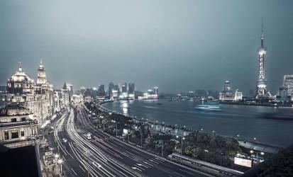 Le Bund de nuit, Shanghai (anonyme) - Muzeo.com