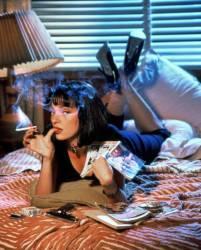 Uma Thurman / Pulp Fiction 1994 directed by Quentin Tarantino (anonyme) - Muzeo.com