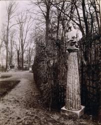 Jardins de Versailles : vue du bosquet de l'Arc de Triomphe en 1904 (Atget Eugène) - Muzeo.com
