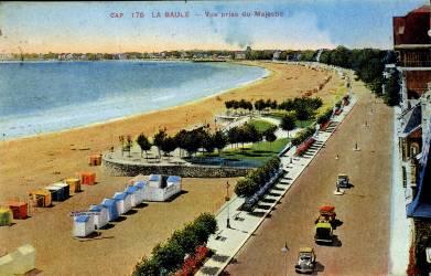 La Baule : vue de la plage prise du Majestic (anonyme) - Muzeo.com