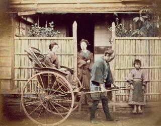 Lady in a rickshaw, c.1890s (anonyme) - Muzeo.com