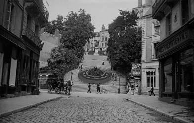 L'escalier monumental de la rue Denis-Papin (anonyme) - Muzeo.com