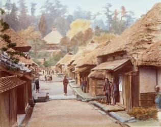 Une rue de Kamakura (Stillfried & Andersen) - Muzeo.com