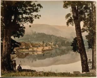 Le lac de Hakone (Stillfried & Andersen) - Muzeo.com