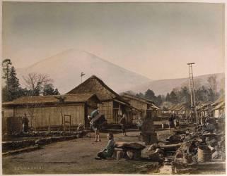 Vue du Mont Fujihama du village de Subashiri (Stillfried & Andersen) - Muzeo.com