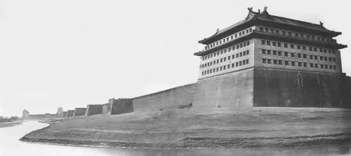 North and East Corner of the Wall of Peking (Felice Beato) - Muzeo.com