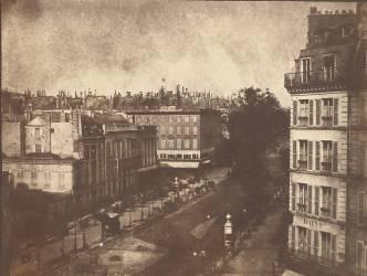 View of the Boulevards of Paris (William Henry Fox Talbot) - Muzeo.com