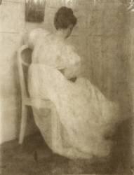 Mary Warner on a White Chair (Heinrich Kühn) - Muzeo.com
