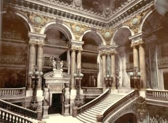 Opera House staircase, Paris (anonyme) - Muzeo.com