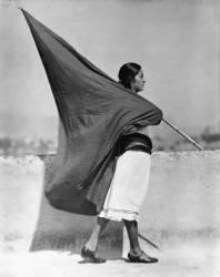 Woman with Flag, Mexico City (Tina Modotti) - Muzeo.com