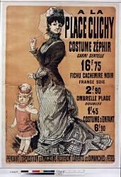A la Place Clichy costume zéphir... (Chéret Jules) - Muzeo.com