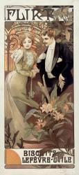 Flirt - Biscuits Lefèvre-Utile (Alfons Mucha) - Muzeo.com