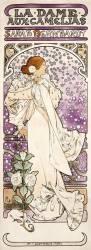 La Dame aux Camélias. Sarah Bernhardt au théatre de La Renaissance (Alfons Mucha) - Muzeo.com