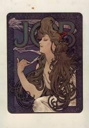 Papier à cigarette Job (Alfons Mucha) - Muzeo.com