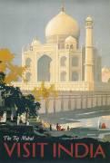 Travel Poster of the Taj Mahal (Bagdatopoulos William Spencer) - Muzeo.com
