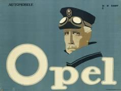 German advertisement for 'Opel' brand cars (Hans Rudi Erdt) - Muzeo.com