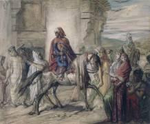 Cavalier arabe partant pour la Fantasia (Chasseriau Théodore) - Muzeo.com