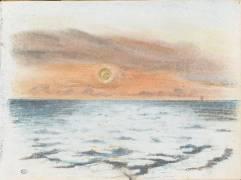 La mer au coucher du soleil (Delacroix Eugène) - Muzeo.com