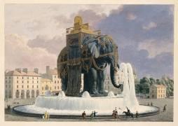 Projet de fontaine surmontée d'un éléphant (Alavoine Jean Antoine) - Muzeo.com