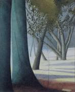 Beech Trunks (Léon Spilliaert) - Muzeo.com