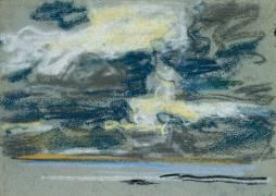 Ciel nuageux (Louis-Eugène Boudin) - Muzeo.com