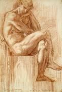 Etude pour les filles de Thespius (Hercule) (Moreau Gustave) - Muzeo.com