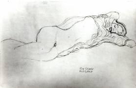 Reclining Woman (Gustav Klimt) - Muzeo.com