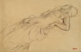 Femme nue, étendue sur le dos (Edgar Degas) - Muzeo.com