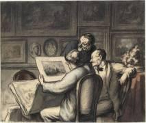 Prints lovers (Honoré Daumier) - Muzeo.com