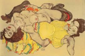 Reclining Women (Schiele Egon) - Muzeo.com