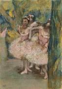 Trois danseuses en jupes saumon (Degas Edgar) - Muzeo.com
