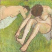 Deux baigneuses sur l'herbe (Edgar Degas) - Muzeo.com