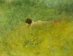On the Grass (Carl Larsson) - Muzeo.com