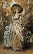 A Lady walking in a Garden (Thomas Gainsborough) - Muzeo.com